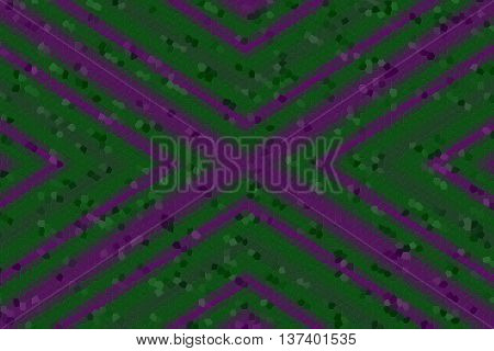Illustration of a purple and dark green mosaic cross