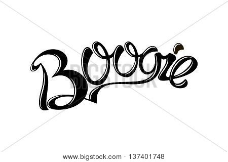 Boogie lettering on a white background. Vector illustration