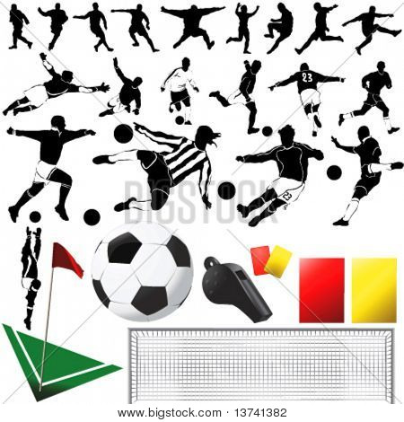 soccer vector and equipments (clothes detail)