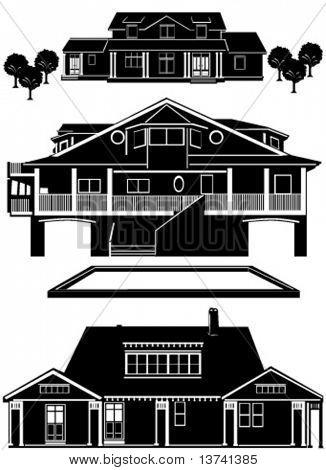 Residenzen bauen Vektor 3
