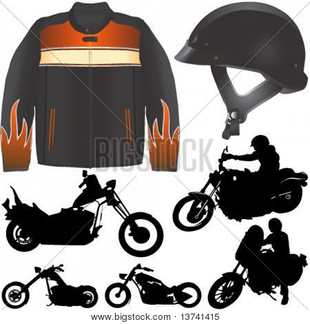 chopper motorcycle vector 2