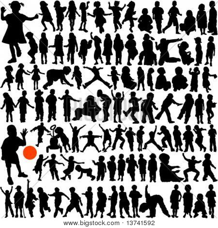 100 children vector