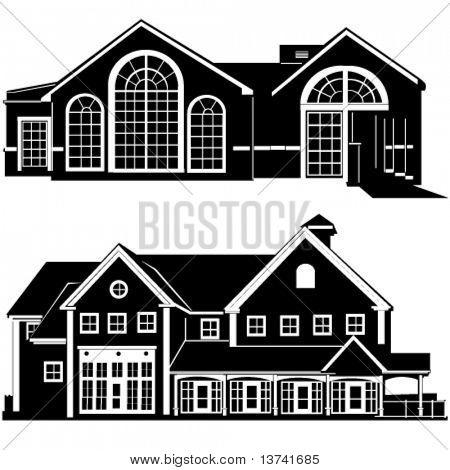 Residenzen bauen Vektor 4