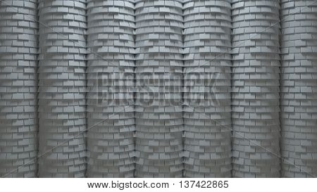 3d rendering abstract background rendered surface with brick displacement facture