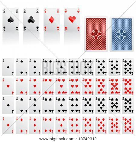 collection of game card vector
