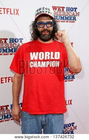 NEW YORK-JUL 22: Actor Judah Friedlander attends the 'Wet Hot American Summer: First Day of Camp' Series Premiere at SVA Theater on July 22, 2015 in New York City.