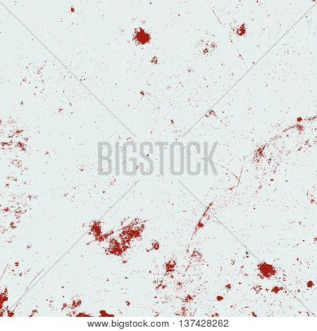 Hight quality vector distress grunge overlay texture. Empty design element of red color. Dusty driped texture. EPS10 vector.