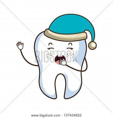 Medical dental care cartoon isolated flat icon, vector illustration.