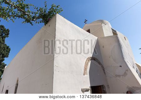 Panagia Episkopi Church in Santorini island, Thira, Cyclades, Greece