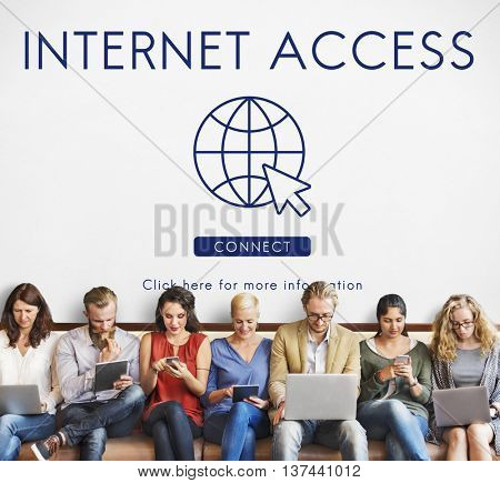 Internet Access URL Browsing Connection Concept
