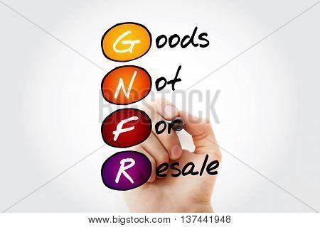 Gnfr - Goods Not For Resale