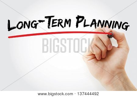 Hand Writing Long-term Planning