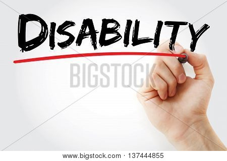 Hand Writing Disability With Marker