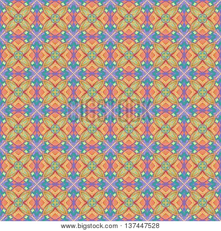 Seamless tiling colorful texture with abstract design
