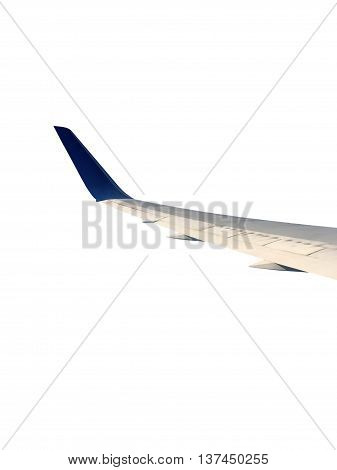 flank of airplane on the white background