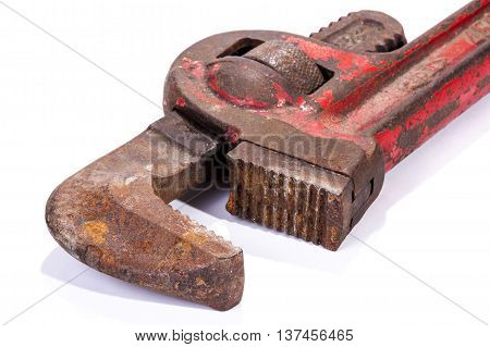 Neglected Rusty Well Used  Monkey Wrench Spanner Jaws