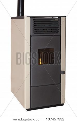 Pellet stove isolated on a white background