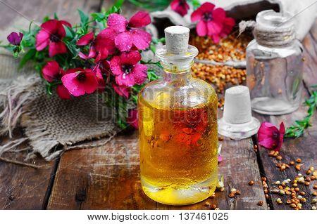 Bottle Of Flax Oil