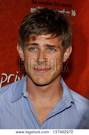 Chris Lowell at the Season One DVD Launch of 'Private Practice' held at the Roosevelt Hotel's Tropicana Bar in Hollywood, USA on September 2, 2008.