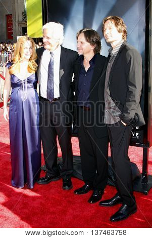 Chris Carter, Gillian Anderson and David Duchovny at the Los Angeles premiere of 'The X-Files: I Want To Believe' held at the Grauman's Chinese in Hollywood, USA on July 23, 2008.