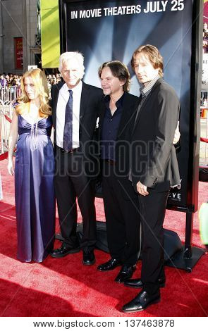 Gillian Anderson, Chris Carter and David Duchovny at the Los Angeles premiere of 'The X-Files: I Want To Believe' held at the Grauman's Chinese in Hollywood, USA on July 23, 2008.