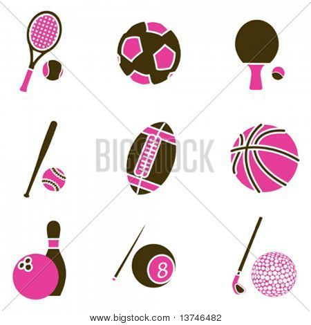 sport object icon set