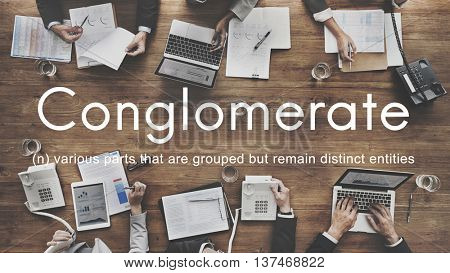 Conglomerate Alliance Business Collaborate Team Concept
