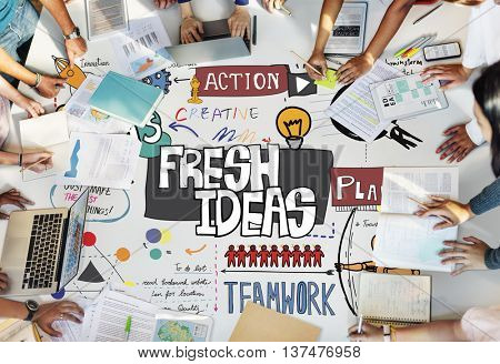 Fresh Ideas Creative Think Design Concept