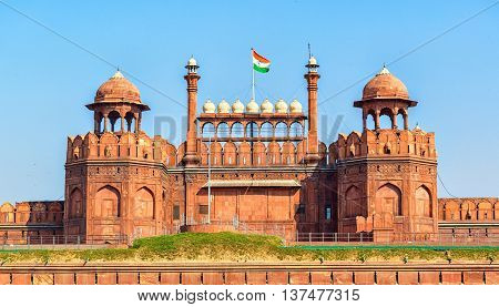 Lal Qila - Red Fort in old Delhi, India