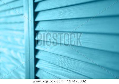 Blue folding screen, closeup
