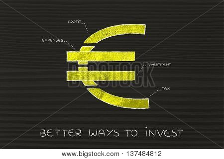 Split Euro Currency Symbol With Budgeting Captions, Better Ways To Invest