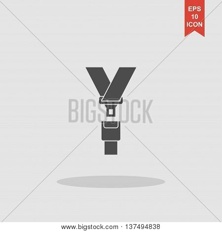 Safe Belt. Modern Design Flat Style