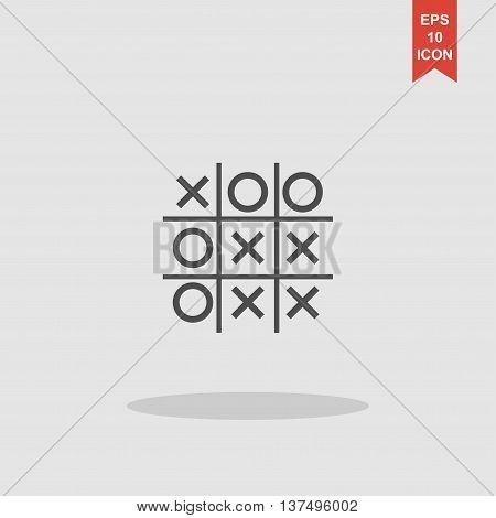 Tic tac toe game. Vector concept illustration for design. poster
