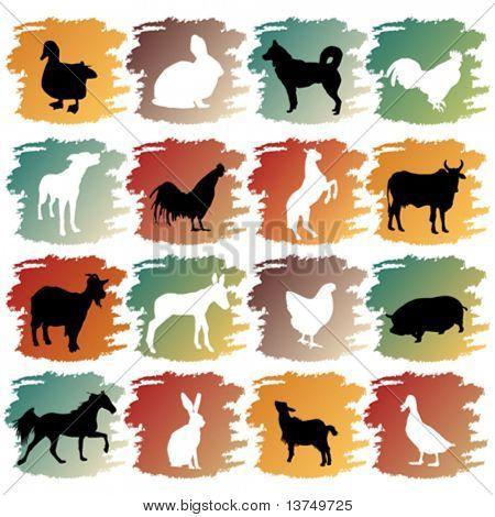 big set of farm animals
