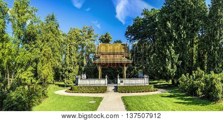 The Thai Salo Temple In Park Of Bad Homburg
