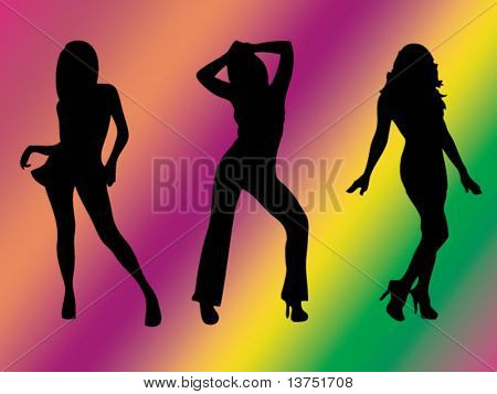 Three sexy females vector