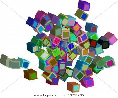 3-D boxes vector design