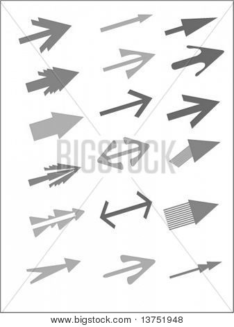 Vector arrows. You can change color and size as you wish.
