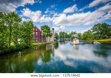 The Winnipesaukee River, In Lakeport, Laconia, New Hampshire.