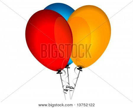 Three balloons in vector format