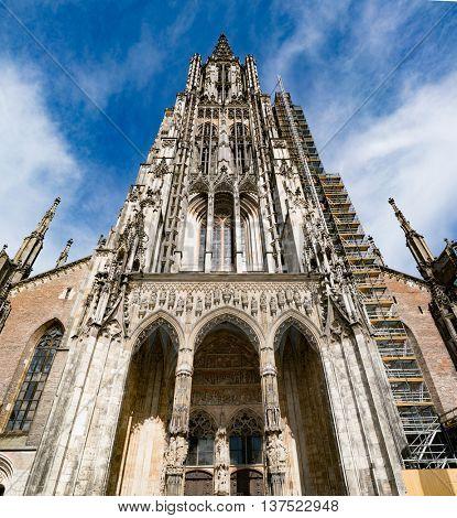 Ulm Minster (German: Ulmer Muenster) is a Lutheran church located in Ulm, Germany.
