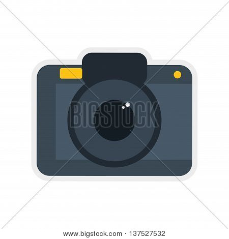 Gadget and technology concept represented by camera icon. isolated and flat illustration