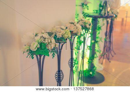 Decoration artificial flower ( Filtered image processed vintage effect. )