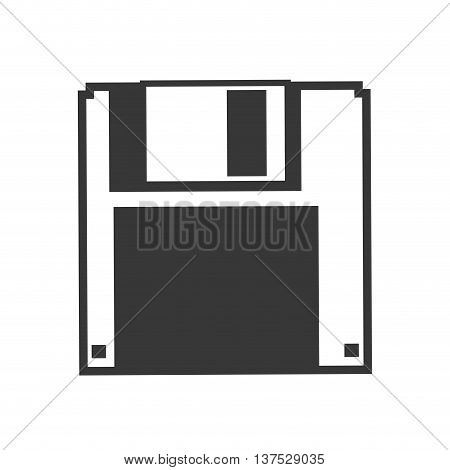 Gadget and technology concept represented by diskette icon. isolated and flat illustration