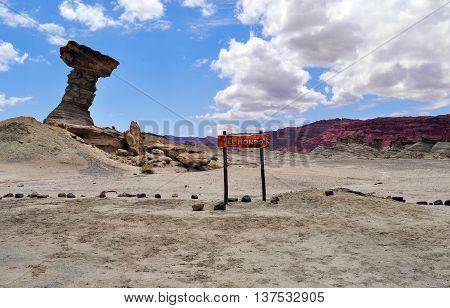El Hongo. Ischigualasto Provincial Park. Argentina