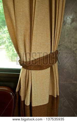 Blinds curtain interior window, decoration in living room