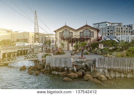 Wellington New Zealand - March 3 2016: Old classic building on Wellington waterfront now served as Wellington's venue for corporate events functions and wedding