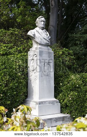 VENICE, ITALY - JUNE 11, 2013:Monument Wilhelm Richard Wagner in Venice
