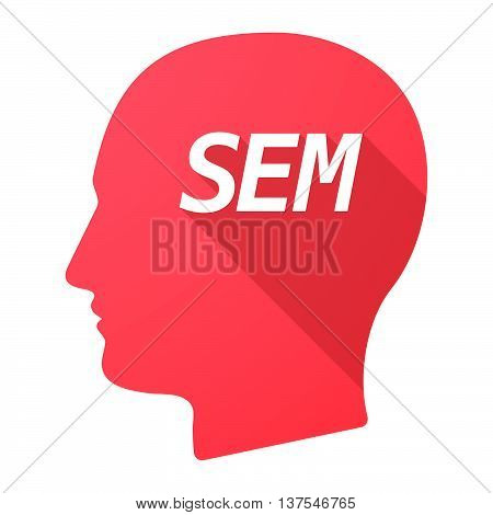 Isolated Long Shadow Male Head With    The Text Sem