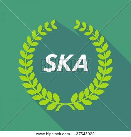 Long Shadow Laurel Wreath With    The Text Ska